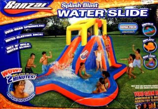 Banzai Splash Blast Water Slide w Blower Fan