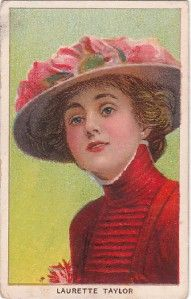 1910 Fatima Cigarettes Card Actress Laurette Taylor T27