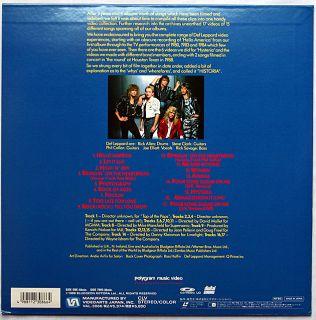 japan laserdisc def leppard historia 1988 houston texsa u s