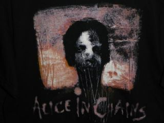 SS ALICE IN CHAINS TEE SHIRT COTTON CONCERT TSHIRT RIP LAYNE STALEY