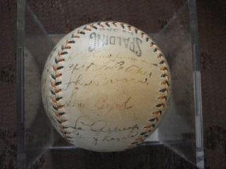 Babe Ruth Gehrig Lazzeri Pennock 33 Yankees Signed Baseball Autograph