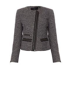 Kookai Tweed biker jacket Grey