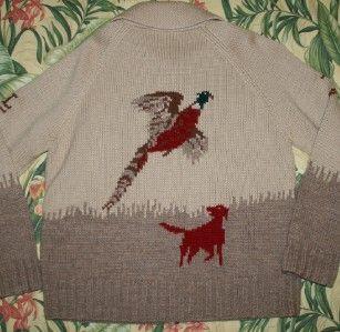 Womens Polo Ralph Lauren Cowichan Hunting Sweater Medium M