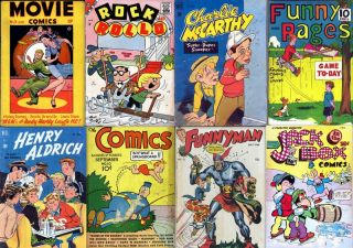 Golden Age DVD TEENAGE LAUGH COMICS #2 DELL Henry Aldrich Howdy Doody