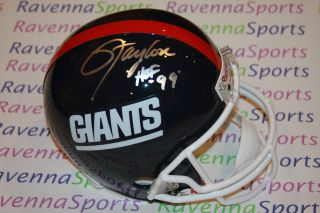 Lawrence Taylor Autographed Riddell New York Giants F s Replica Helmet