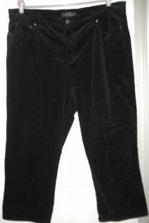 Lauren Ralph Lauren Jeans Co Black Stretch Corduroy Pants 22W Petite