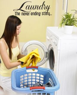 Laundry Room Wall Decal Laundry The Never Ending Story Vinyl Quote 28