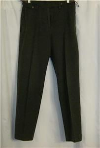 Lauren Ralph Lauren Petite Stretch Cotton Twill Pants w Leather Trim