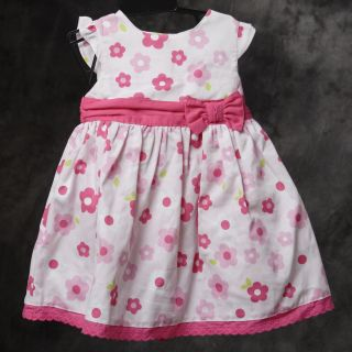 New Boutique Laura Ashley Girls Pink Floral Dress 18M