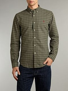 Polo Ralph Lauren Long sleeved slim fitted checked shirt Moss