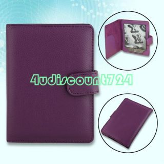 FAUX LEATHER COVER CASE FOR  KINDLE 4 4TH 4 GENERATION PURPLE