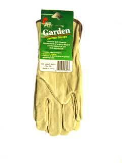Midwest Style 480 Womens Leather Garden Gloves Gray Womens Medium