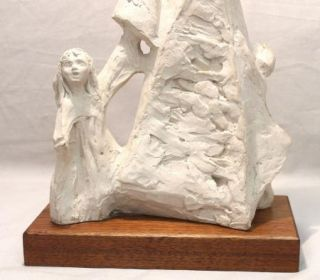 Claude Leclerc Austin Prod 1978 Mother Children Statue Sculpture