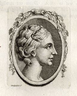 Antique Print Greek Woman Schellenberg Lavater 1781