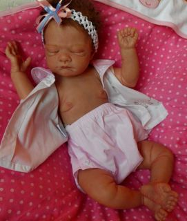 Reborn Girl Baby Leah by Cuddly Angels Nursery Gus Sculpture Le Sold