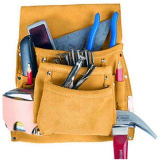 Custom Leather Craft 424X 10 Pocket Large Capacity Nail Tool Bag