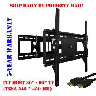 Single Arm Articulating LED LCD TV Tilt Wall Mount 32 37 42 46 47 50