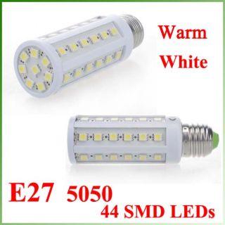 7W E27 LED Light Bulbs Warm White 110 230V 44 LEDs New