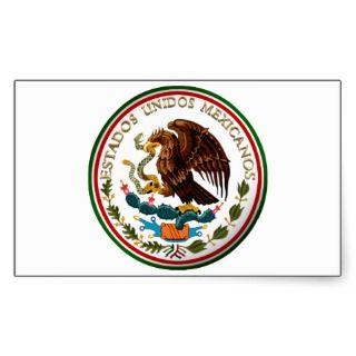 Estados Unidos Mexicanos (Eagle Mexican Flag) Stickers