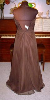 Mori Lee Formal Brown Chiffon Dress Wedding Prom Size Sz 11 / 12