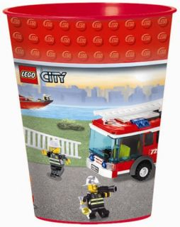 Lego City Party Supplies 16oz Plastic Stadium Cup 1 Each