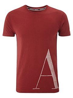 Armani Jeans Large logo t shirt Turquoise