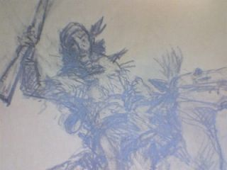 Leal Mack Original Pencil Drawing Mountain Man
