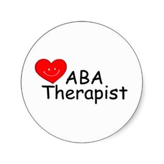 ABA Therapist (Heart) Sticker