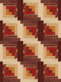 Andover 12 Block Log Cabin Pre Cut Quilt Kit 29 x 39 Leesburg