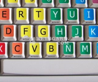 Learning Large Lettering English US Keyboard Stickers