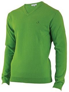 Calvin Klein Golf Super wool v neck sweater Lime