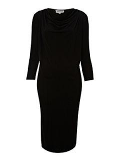 Mary Portas Cowl neck jersey dress Black