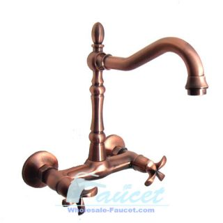 Classice Antique Copper Wall Mounted Kitchen Sink Faucet 5683C