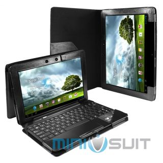 Black PU Leather Keyboard Stand Case Cover for Asus Transformer TF300