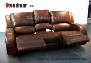2pc New Modern Leather Sofa Loveseat w 4 Recliners S837