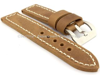 Genuine Leather Hand Stitched Watch Strap Band Sirius 22mm 24mm 26mm