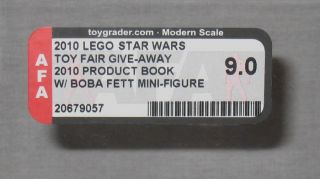 2010 LEGO STAR WARS TOY FAIR WHITE BOBA FETT & BOOK NY MISB AFA 9 ONLY