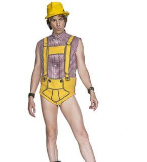 Bruno Yellow Lederhosen Adult Halloween Costume