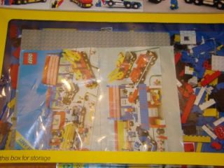 Lego Legoland own Sysem 6393 Big Rig ruck Sop Box Insrucions and