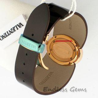 Valentino Seduction Ladies Watch V43 Brown Patent Leather Swiss