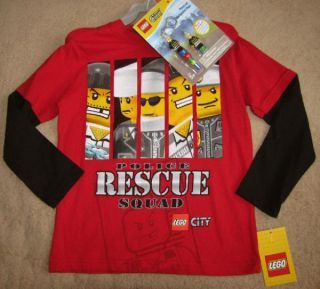 Lego City Police Rescue Squad Red Tee Shirt 6 7 Toy