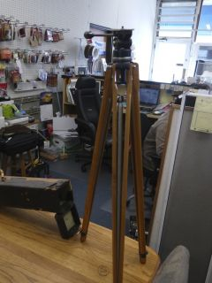 Thalhammer Kino Pano Tilt Antique Tripod Head + Model B legs ca. 1929