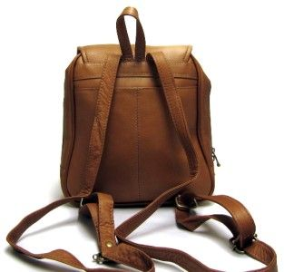 Ledonne 351 Womens Organizer Leather Backpack Purse
