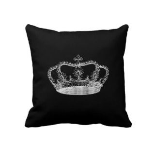 Black Crown (B) Throw Pillow 20 x 20