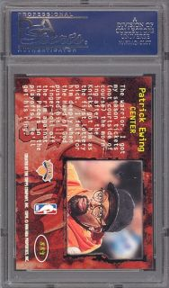 1996 Spike Lee Members Only Patrick Ewing PSA 10 Pop 1