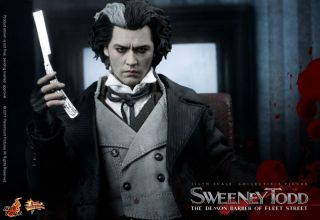 Hot Toys Demon Barber Sweeney Todd White Shirt Scarf
