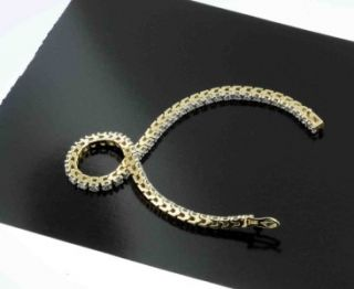 Carat Quality Diamond Tennis Bracelet Fancy Solid Yellow Gold