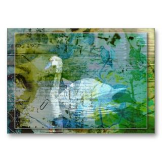 The Swan   Artist Trading Cards business cards by Guiltypleasures