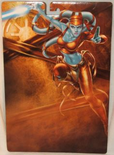 2004 Hasbro Star Wars Unleashed Aayla Secura Proof Card