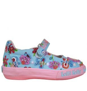 Lelli Kelly LK5105 Bee 1 Girls Canvas Shoes SS12 Fantasia Celeste